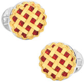 Ox & Bull Trading Co. Men's Sterling Silver Pie Cufflinks
