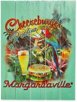 Margaritaville Cheeseburger in Paradise Outdoor Wall Art in Green