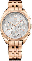 Tommy Hilfiger Women's Rose Gold Ion-Plated Stainless Steel Bracelet Watch 38mm 1781487