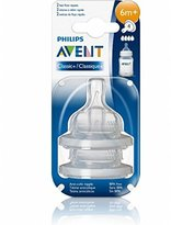 Philips Avent Naturally Fast Flow Size 4 Age 6 Months + 2 Pack Bottle Nipples