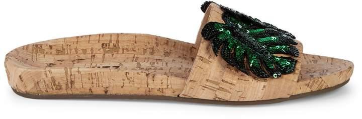 Schutz Thayna Sequin Palm Slides