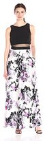 Betsy & Adam Women's Summer Floral Mock 2pc