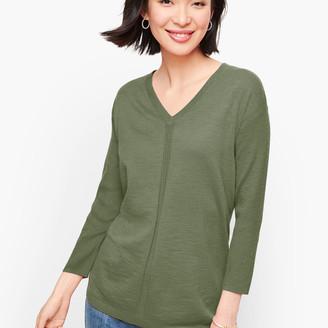 Talbots Cotton V-Neck Sweater