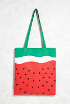 Forever 21 FOREVER 21+ Watermelon Print Tote Bag