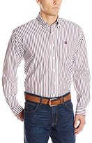 Cinch Men's Classic Fit Long Sleeve Button One Open Pocket Stripe