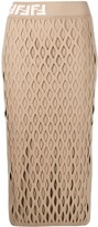 Fendi cut-out knitted pencil skirt