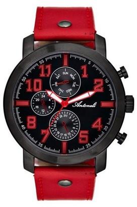 Antoneli Unisex Adult Analogue Quartz Watch with Leather Strap AG9298-04