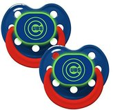 Baby Fanatic Pacifier - Glow In The Dark (2 Pack) - Chicago Cubs by