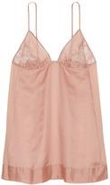La Perla 'Jazz Time' lace silk-cotton babydoll slip