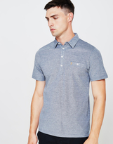 Farah Short Sleeve Jersey Polo Shirt Blue