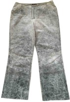 Mulberry Grey Leather Trousers
