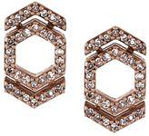 Astley Clarke 'Double Varro Honeycomb' diamond stud earrings