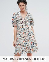 Queen Bee Tea Dress With Frill Detail