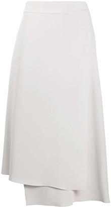 Brunello Cucinelli High Waisted Asymmetric Skirt