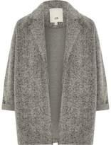 River Island Girls grey textured jersey blazer