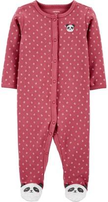 Carter's Baby Girl Panda Snap-Up Cotton Sleep & Play