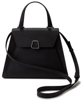 Akris Alba Top Handle Leather Satchel - Black