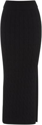 ANNA QUAN Women's Malory Cable-Knit Pencil Skirt - Brown/black - Moda Operandi