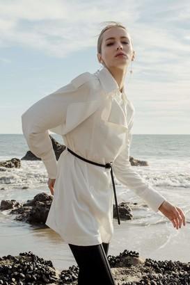 J.ING Ksenia White Jacket Blouse