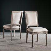 Safavieh Buchanan Light Beige Rect Side Chair (Set of 2)