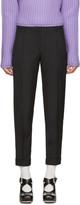 Carven Black Slim Cuffed Trousers