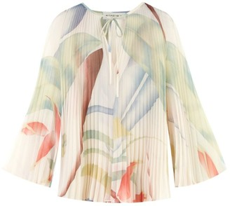 Etro Pleated Abstract Blouse
