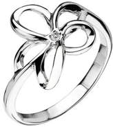 Hot Diamonds Plumeria Silver And Diamond Ring - Size M