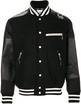 Junya Watanabe Comme Des Garçons Man The North Face varsity jacket - men - Calf Leather/Nylon/Polyester/PV...