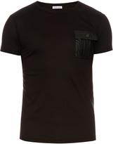 Tomas Maier Leatherette-patch cotton T-shirt