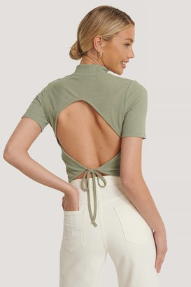 NA-KD Open Back Crepe Top