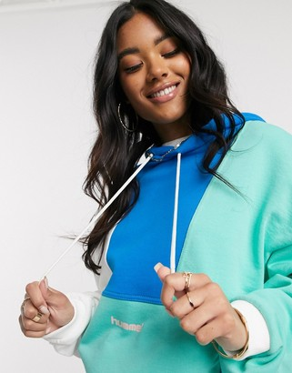 Hummel Hive hoodie in pastel colour block