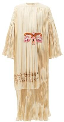 Gucci Gardenia Uterus-applique Silk-satin Gown - Womens - Ivory