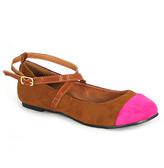 C Label Camel & Pink Color Block Lora Flat