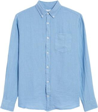 NN07 Levon 5706 Slim Fit Linen Button-Down Shirt