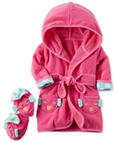 Carter's 2-Pc. Cotton Hooded Fish Robe & Booties Set, Baby Girls (0-24 months)