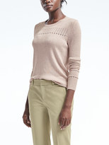 Banana Republic Todd & Duncan Cashmere Pleated-Sleeve Pullover