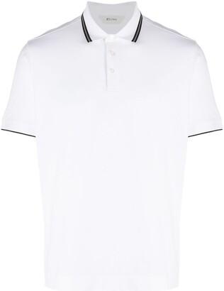 Ermenegildo Zegna Stripe-Trim Polo Shirt