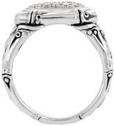 John Hardy Bamboo Diamond Oval Pave Ring, Size 7