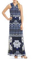 Antonio Melani Waris Printed Chiffon Maxi Dress