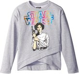 Star Wars Big Girls' Holographic Foil Oversized Boxy Top