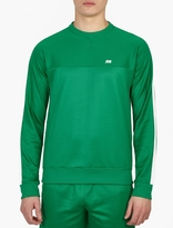 Ami Green Track-Style Sweatshirt