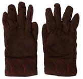 Moschino Suede Cashmere-Trimmed Gloves