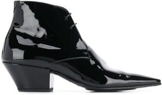 Saint Laurent Belle 45mm lace-up boots