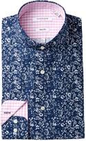 Isaac Mizrahi Mini Floral Print Slim Fit Dress Shirt