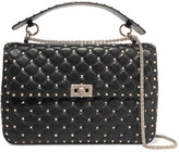 Valentino Rockstud Large Matelassé Leather Shoulder Bag - Black