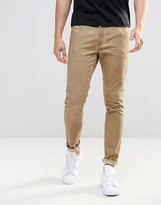 Asos Super Skinny Pants With 5 Pockets In Sand Washed Effect
