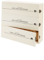 True Fabrications Anniversary Wine Box - Beige