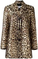 RED Valentino leopard print midi coat - women - Cotton/Polyamide/Polyester/Acetate - 40