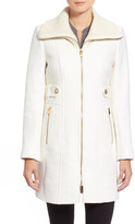 Via Spiga Spread Collar Zip Front Coat