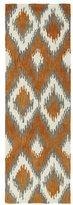 Leon Hand-Tufted de Ikat Paprika Rug (2'6 x 8')